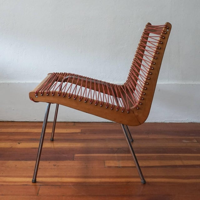 Mid-Century Modern String Chair by Robert J Ellenberger for Calfab Good Design, 1950s For Sale - Image 3 of 8