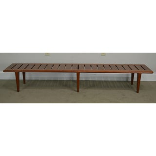 Hans Wegner for Johannes Danish Modern Teak Slatted Bench Preview