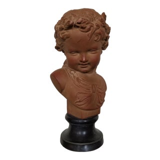 Small French Style Terracotta Bust For Sale