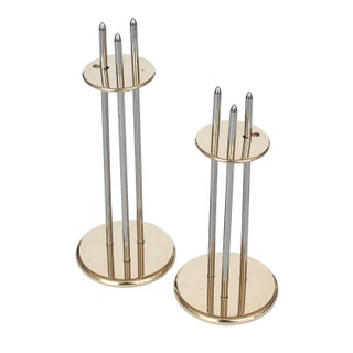 Modern Danish Brass Candlesticks - A Pair