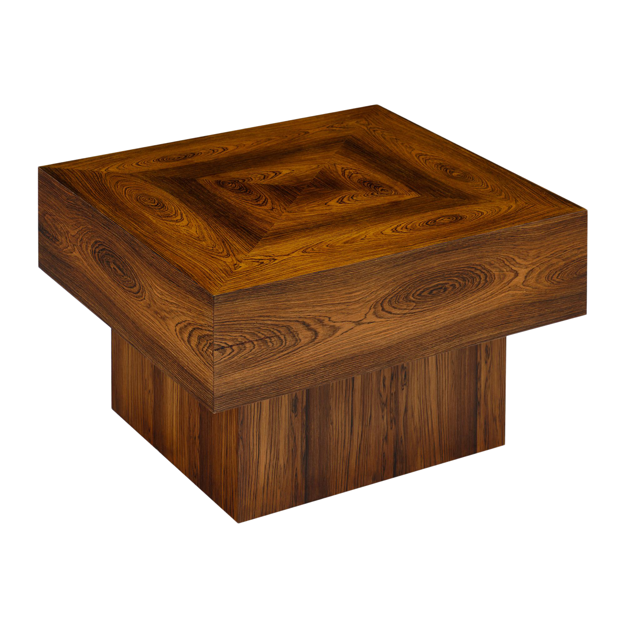 Cubist French Wood Side Table