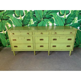 Vintage Ficks Reed Faux Bamboo Dresser Preview