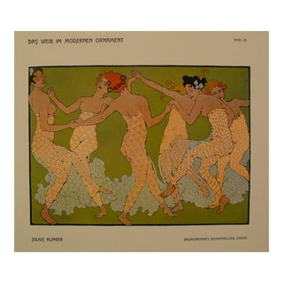 1902 Original German Poster, Julius Klinger, Dancing Women