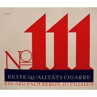 1923 Austrian Art Deco Poster, No. 111 Beste Qualitats (Vintage Tobacco Branding) For Sale