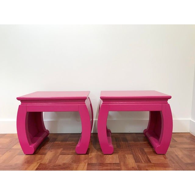 Pink Ming Style Pink Chow Leg Side Tables/Low Stools - a Pair For Sale - Image 8 of 8