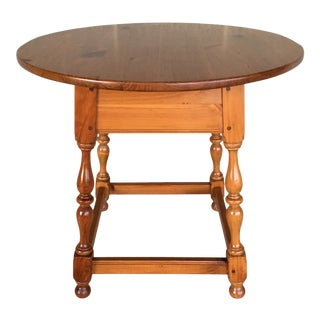 Ethan Allen Country Craftsman Pine Lamp Table For Sale