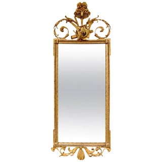 Period English Neoclassical Mirror With Musical Trophies