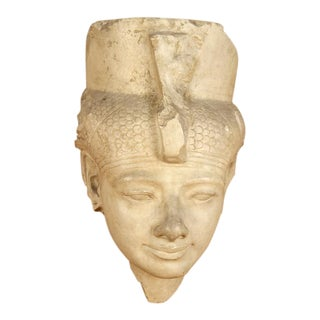 1960s Vintage Egyptian Queen Architectural Mask For Sale