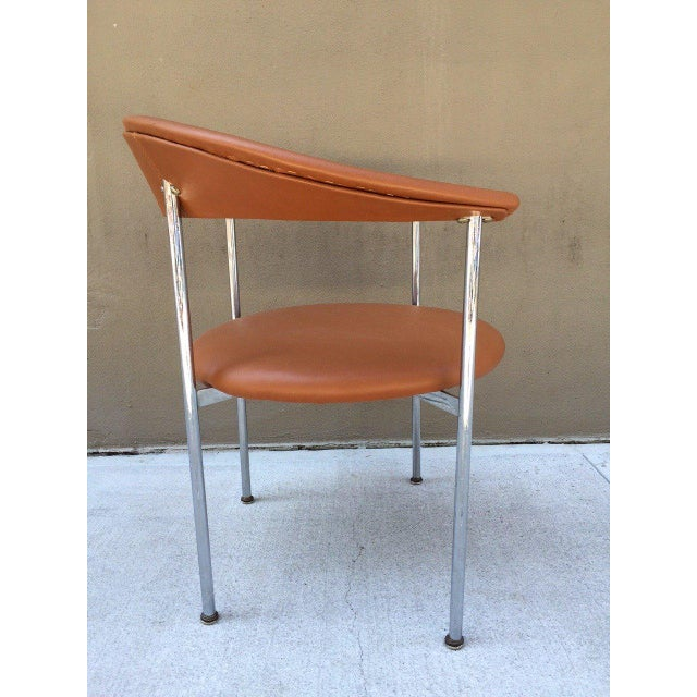 Mid-Century Modern Mid-Century Modern Chrome Side Chair For Sale - Image 3 of 4