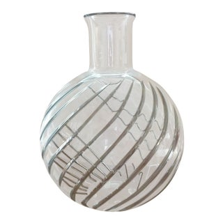 1990s Vintage Baccarat Cyclades Crystal Vase For Sale