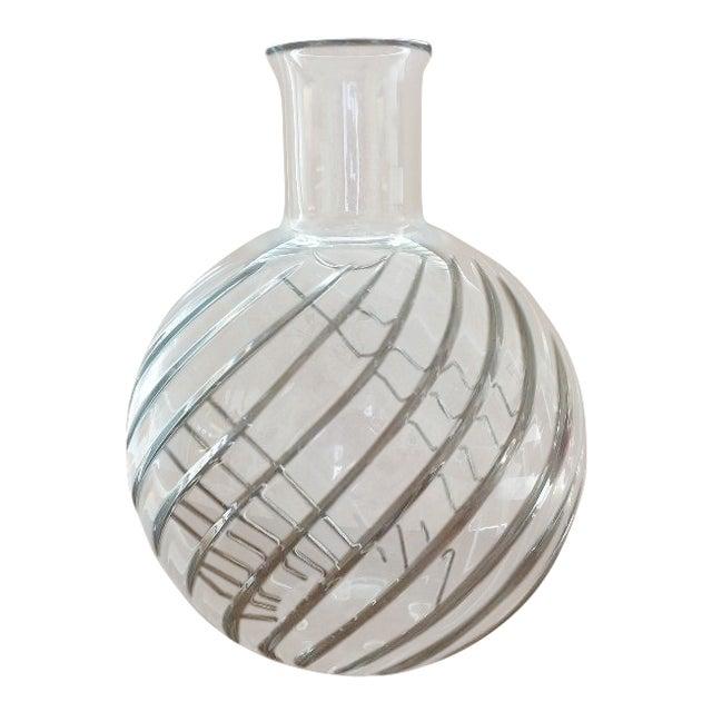 1990s Vintage Baccarat Cyclades Crystal Vase Chairish