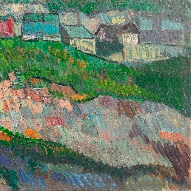 Canvas Johannes Carstensen Landscape With Village For Sale - Image 7 of 11