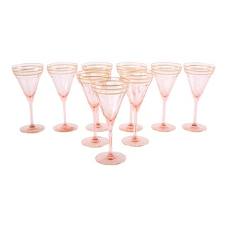 Mid 20th Century Barware / Tableware Crystal Service - Set of 9 For Sale