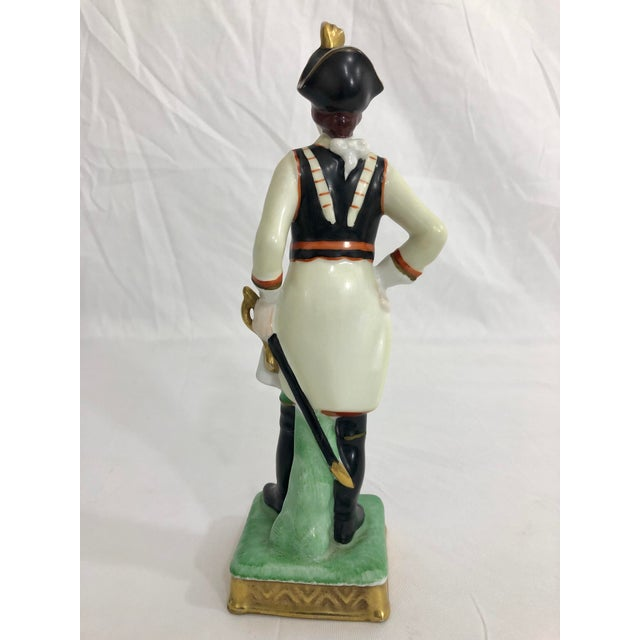 Capodimonte Capodimonte Porcelain Statue of a French Imperial Soldier For Sale - Image 4 of 6