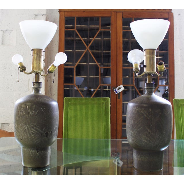 Lee Rosen Large Pair of Design Technics Table Lamps by Lee Rosen For Sale - Image 4 of 8