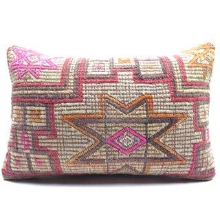Vintage Kilim Rug Lumbar Pillow