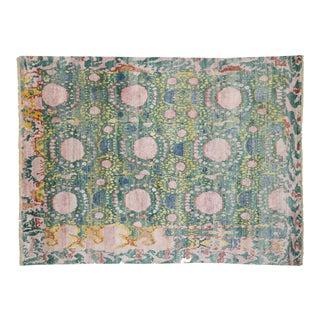 Colorful Geometric Silk Area Rug 08'10 X 11'10 For Sale