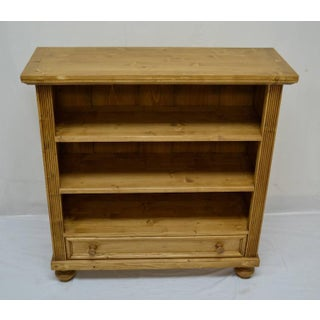 Antique Pine Bookcase With Drawer Preview