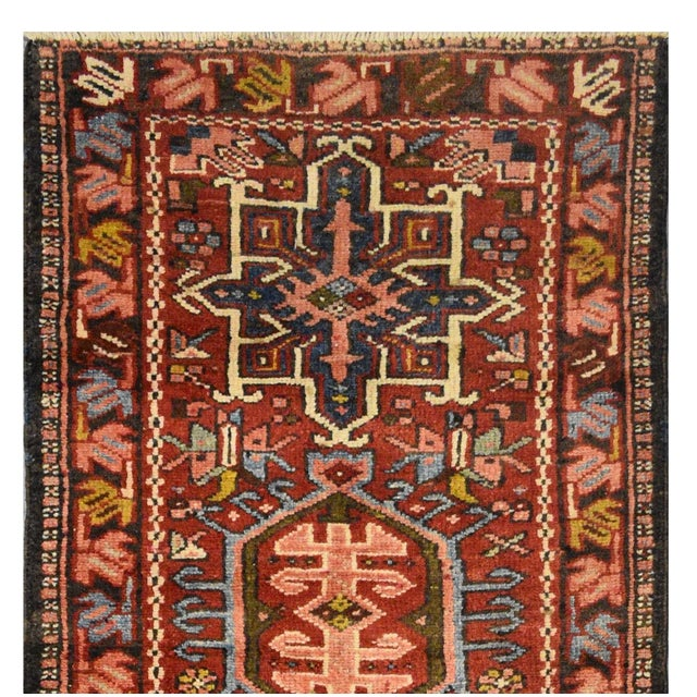 "Vintage Persian Karaje Rug - 2'4"" x 8'9"" - Image 3 of 4"