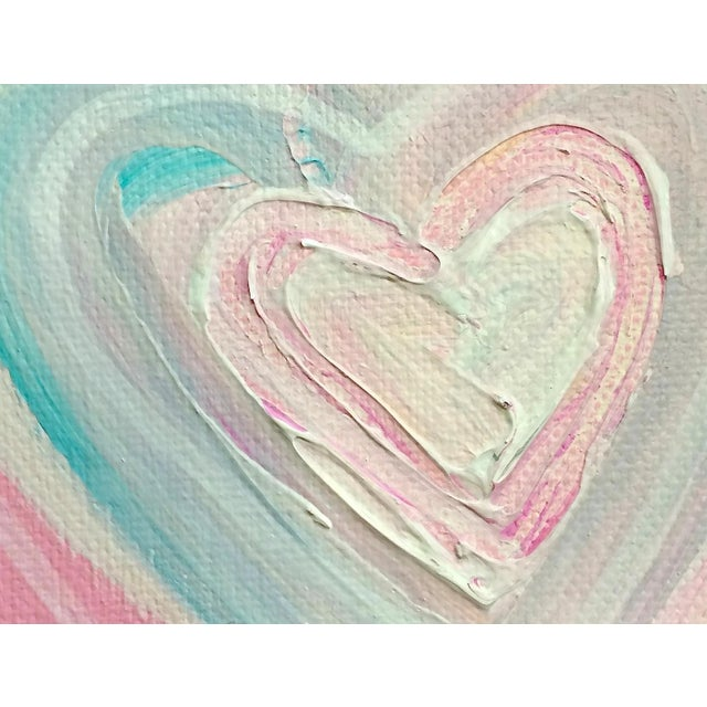 'Cotton Candy Heart' Original Painting by Linnea Heide - Image 3 of 4