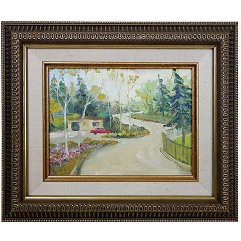 Oil Landscape Painting Titled Long, Winding Road - Image 1 of 4