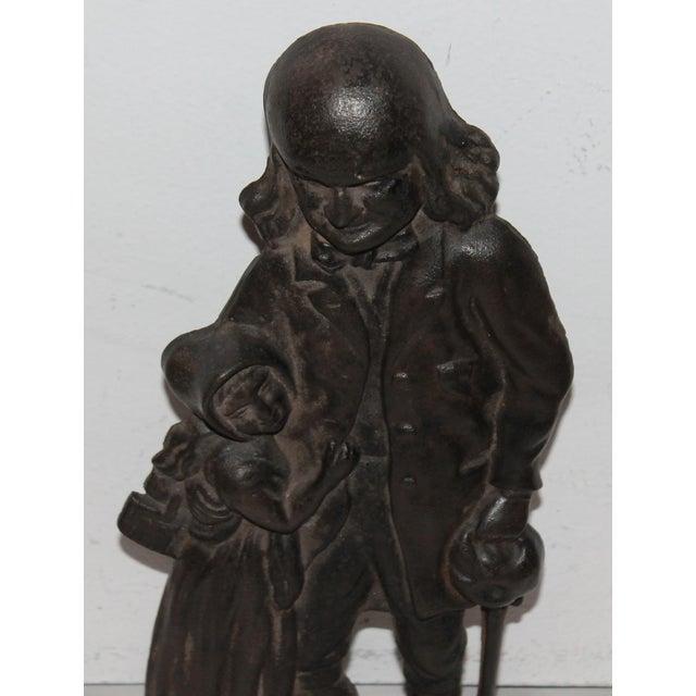 Americana Benjamin Franklin Cast Iron Door Stop For Sale - Image 3 of 7