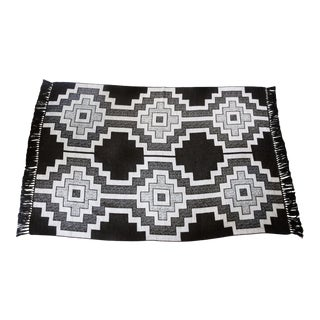 Stick & Ball Alpaca Pampa Charcoal Throw Blanket For Sale