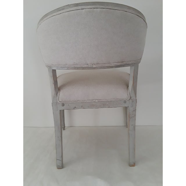 Pair of Swedish Gustavian Barrel Chairs - Image 9 of 11