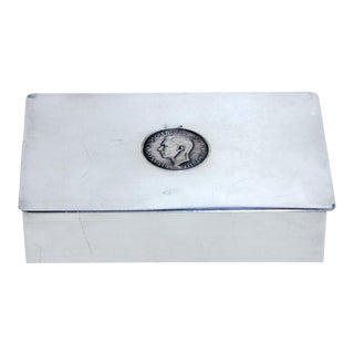Antique English Silver Plate Snuff Box For Sale