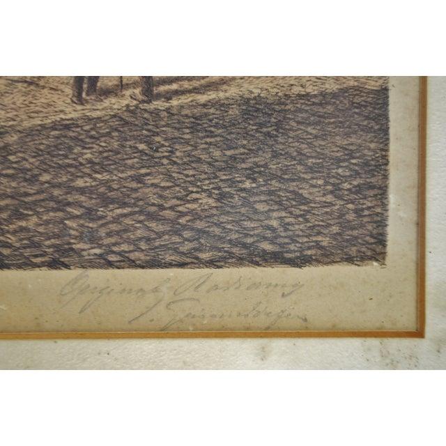 Vintage Ernst Geissendorfer Etching For Sale - Image 5 of 11