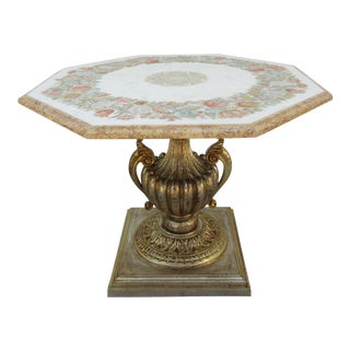 Italian Style Giltwood and Marble Centre Table For Sale