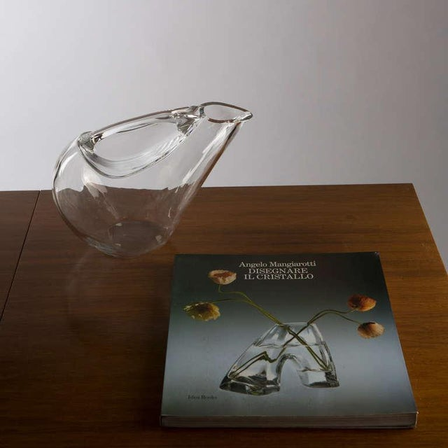 Set of Two Crystal Pitchers by Angelo Mangiarotti For Sale - Image 10 of 10
