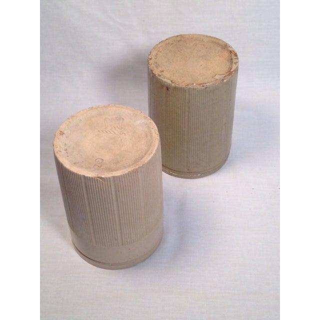 Vintage English Crock Storage Jars - a Pair - Image 4 of 4