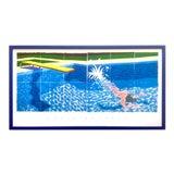 "Image of David Hockney Rare Vintage 1994 Iconic Lithograph Print Large Framed Poster "" Le Plongeur ( Paper Pool 18 ) "" 1978 For Sale"