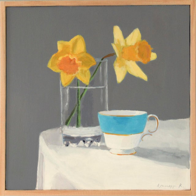Daffodils and a Teacup by Anne Carrozza Remick For Sale In Providence - Image 6 of 6