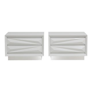 Customizable The Lacquered Asymmetrical Side Cabinets by Talisman Bespoke For Sale