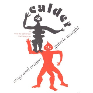 1960s Alexander Calder Poster Lithograph, Crags and Critters For Sale
