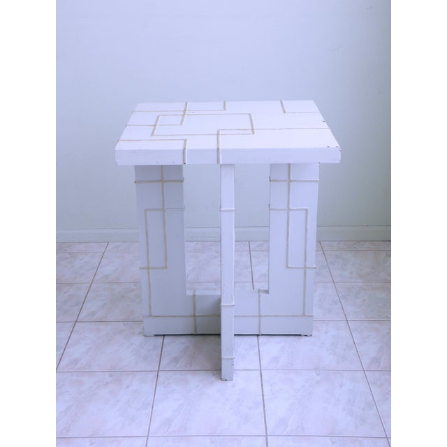 Art Deco Art Nouveau Table Fretwork High Accent Dining Table For Sale - Image 3 of 7