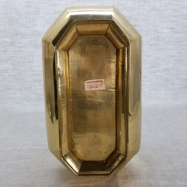 Solid Brass Cachepot Planter For Sale - Image 5 of 5