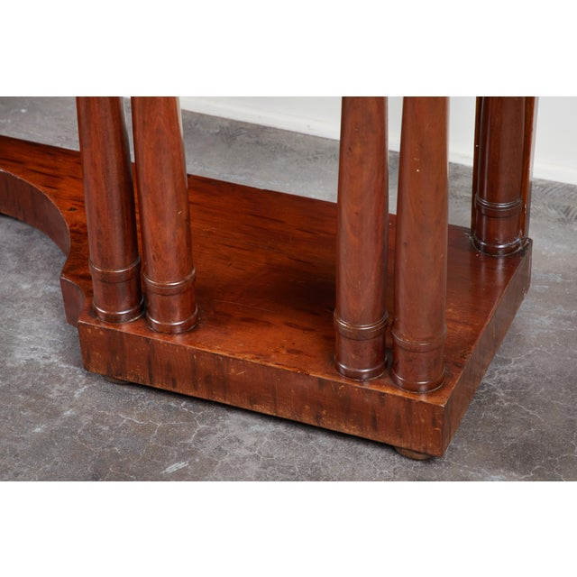 Early 19th C French Charles X Mahogany Console For Sale - Image 4 of 7