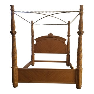 Burnhardt Traditional/Rustic Cal King Bed Frame