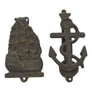Nautical Door Knockers, Pr For Sale