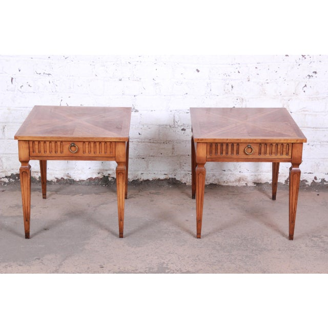 French Baker Furniture Milling Road French Regency End Tables, Pair For Sale - Image 3 of 12