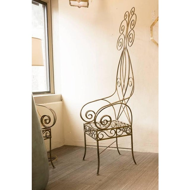 Pair of French Metal Fantasy Chairs - Image 3 of 4