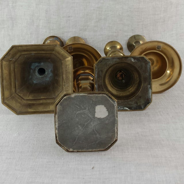 Vintage Brass Candle Holders - Set of 5 - Image 7 of 7