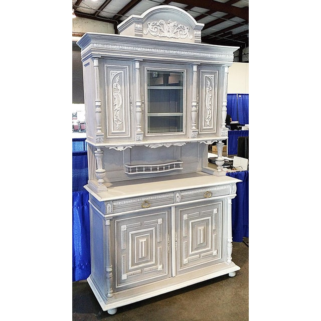 French Antique French Painted Hutch For Sale - Image 3 of 11