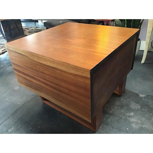 Wood 1970s Scandinavian Modern Teak Oversized Side Table For Sale - Image 7 of 11