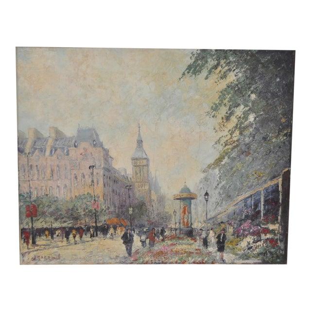 "Marcel Brisson Original ""Paris"" Oil Painting c.1960 For Sale"