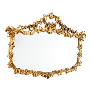 Vintage Ornate Gilt Framed Mirror For Sale