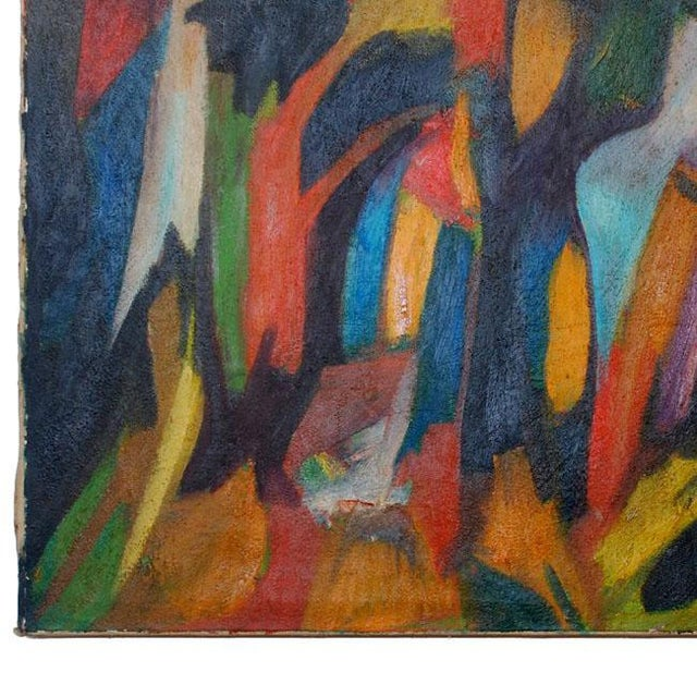 "For your consideration an abstract oil in canvas by Mario Beauregard, Viena 1967. Inspired in the poem "" El bosque que..."